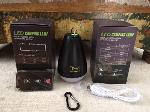 Rigbee LED Lampe mit IR Fernbedienung