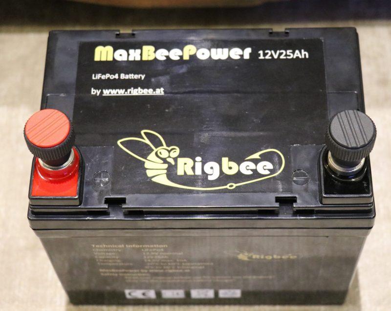 Rigbee MaxBeePower 12V25Ah Liionen Akku (LiFePo4)