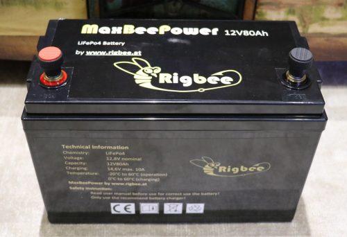 Rigbee MaxBeePower 12V80Ah Liionen Akku (LiFePo4)