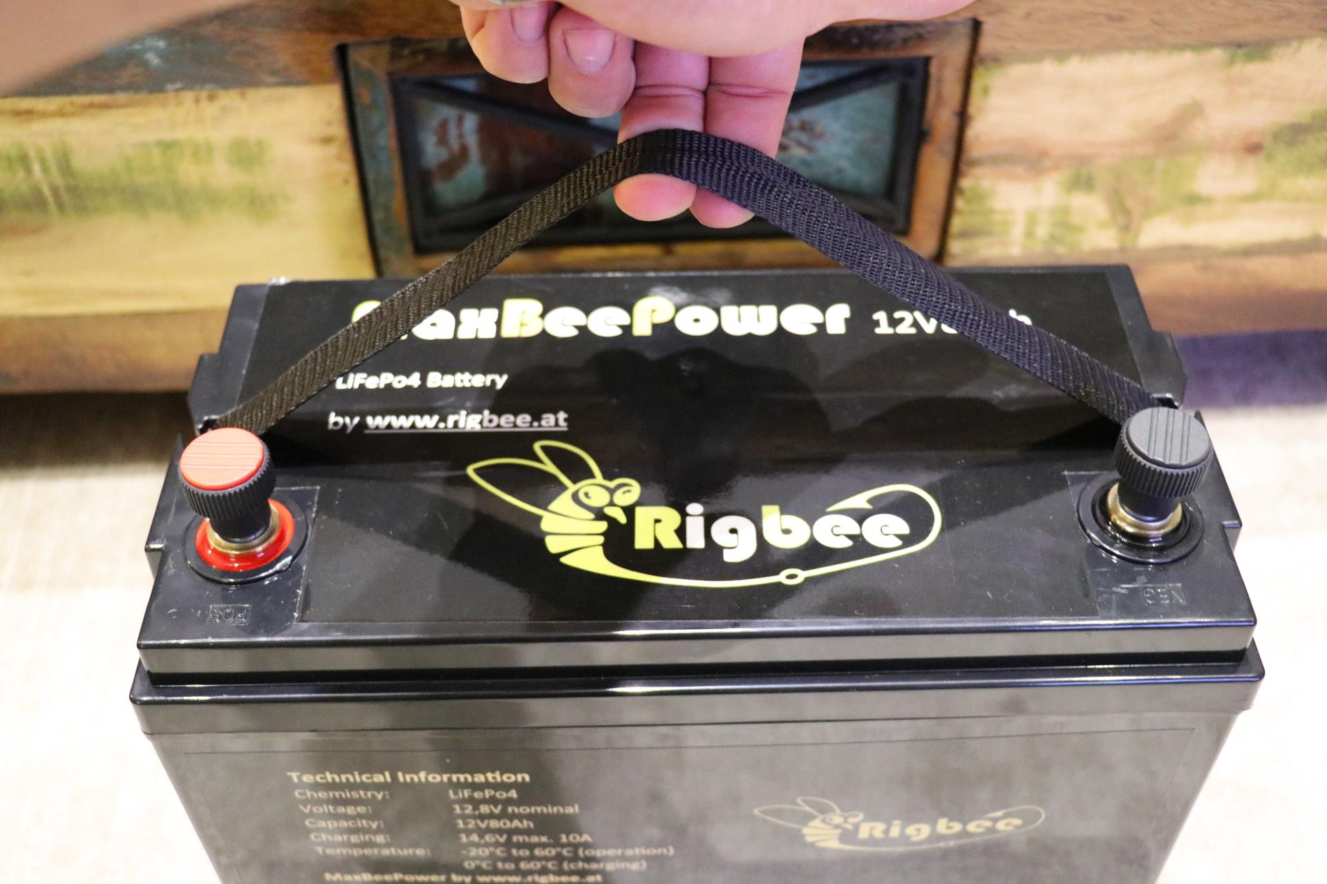 Rigbee MaxBeePower 12V100Ah Liionen Akku (LiFePo4)